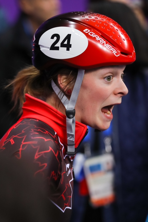 23-year-old Kim Boutin the moment she realizes she's won her first Olympic medal! (Photo: Greg Kolz)