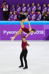 Meagan Duhamel & Eric Radford showcase athleticism and artistry during the Figure Skating Team Event. (Photo: Greg Kolz)