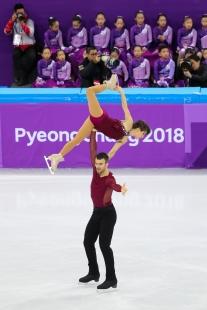 Meagan Duhamel & Eric Radford showcase athleticism and artistry during the Figure Skating Team Event. (Photo: Greg Kolz)