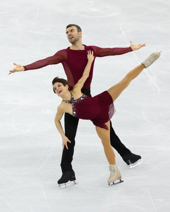 Meagan Duhamel & Eric Radford perform their Free Program during the Figure Skating Team Event. (Photo: Greg Kolz)