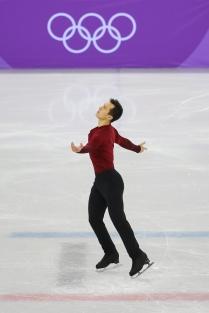 Patrick Chan skates to a 1st place finish in the Men's free skate. (Photo: Greg Kolz)