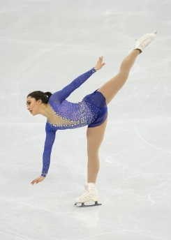 Gabrielle Daleman skates to a 3rd place finish in the Ladies' Free Skate. (Photo: Greg Kolz)