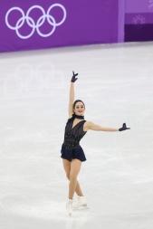 Kaetlyn Osmond channelled Edith Piaf during the Figure Skating Team Event. (Photo: Greg Kolz)