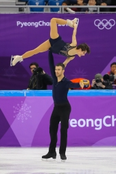 Meagan Duhamel & Eric Radford performing their short program in the Pair Skating event. (Photo: Greg Kolz)