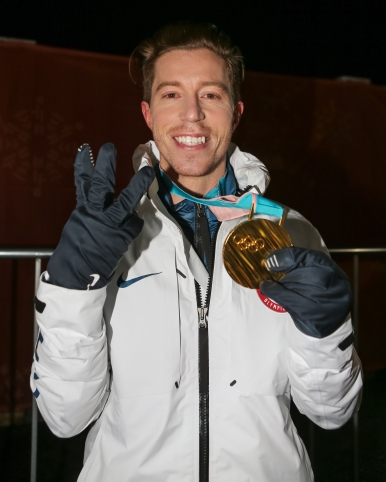 Legendary snowboarder Shaun White shows off his third Olympic Gold Medal in the Men's Halfpipe competition. (Photo: Greg Kolz)