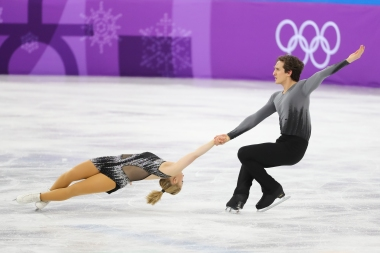 First-time Olympians Julianne Seguin & Charlie Bilodeau did Canada proud in the Pair Skating competition. (Photo: Greg Kolz)