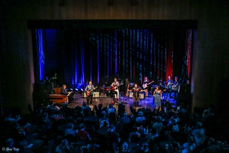 All-Star Blues Revue performing at RBC Ottawa Bluesfest on July 4, 2019.