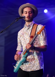 Justin Saladino performing at RBC Ottawa Bluesfest on July 7, 2019. Photo by Greg Kolz / Bluesfest