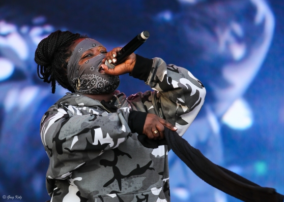 Leikeli47 performing at RBC Ottawa Bluesfest on July 11, 2019. Photo by Greg Kolz / Bluesfest