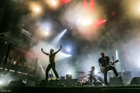 Alexisonfire performing at RBC Ottawa Bluesfest on July 12, 2019. Photo by Greg Kolz / Bluesfest