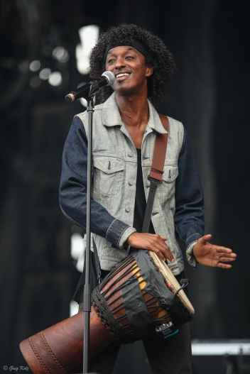 K'Naan performing at RBC Ottawa Bluesfest on July 13, 2019. Photo by Greg Kolz / Bluesfest