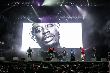 Wu-Tang Clan performing at RBC Ottawa Bluesfest on July 13, 2019. Photo by Greg Kolz / Bluesfest